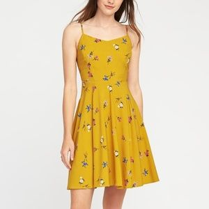 NWT OLD NAVY Floral Cami Skater Fit Flare Dress